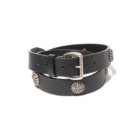 MAPLE CONCHO BELT BLACK