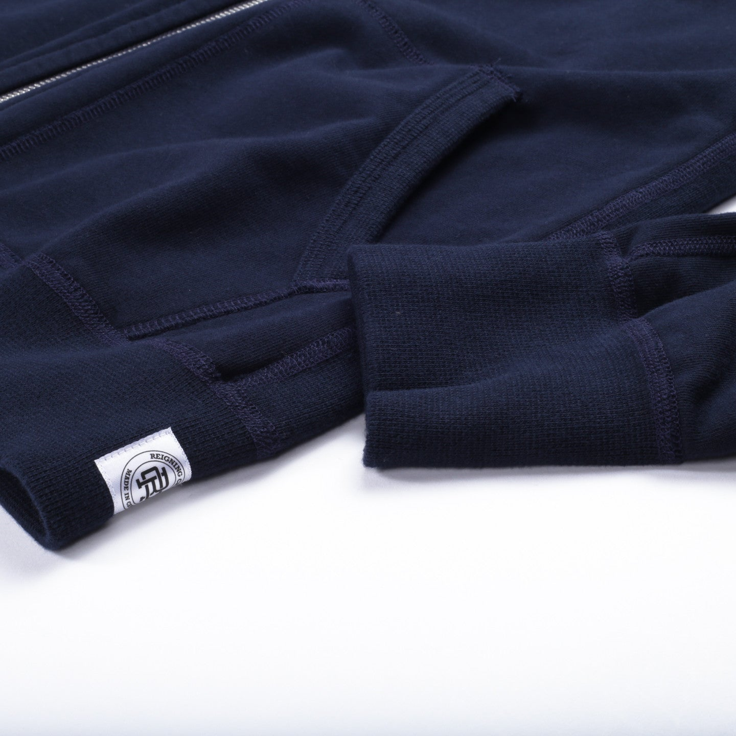 REIGNING CHAMP MIDWEIGHT TERRY ZIP HOODIE NAVY