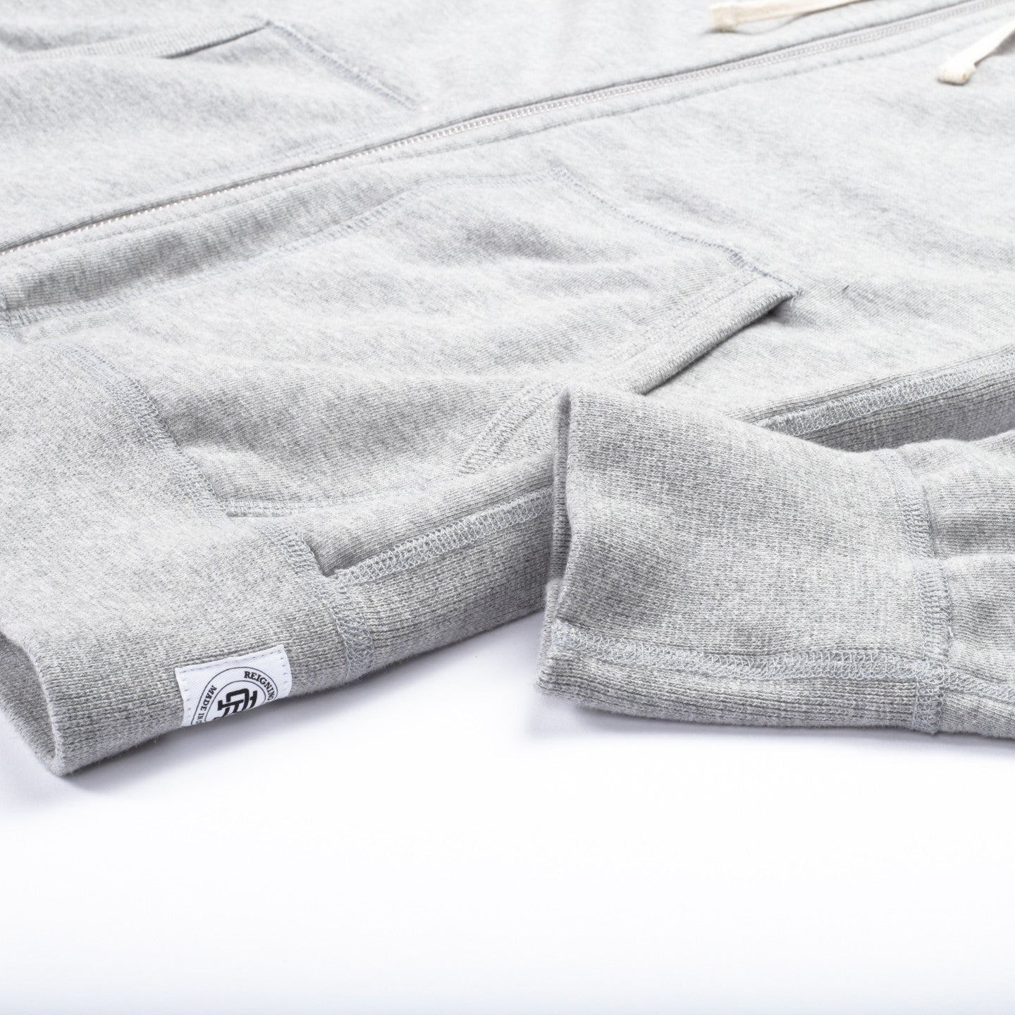 REIGNING CHAMP MIDWEIGHT TERRY ZIP HOODIE HEATHER GREY