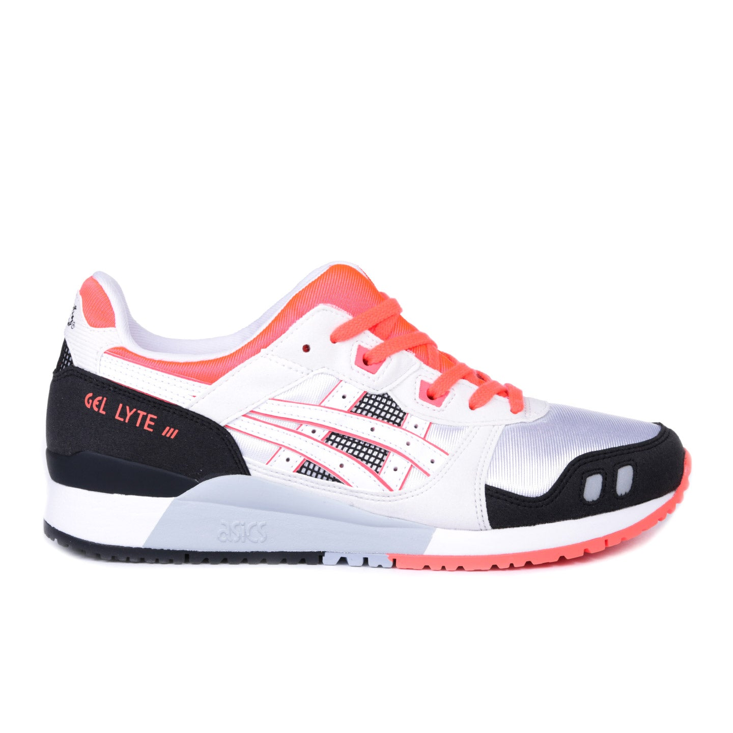 ASICS GEL-LYTE III OG WHITE / FLASH CORAL