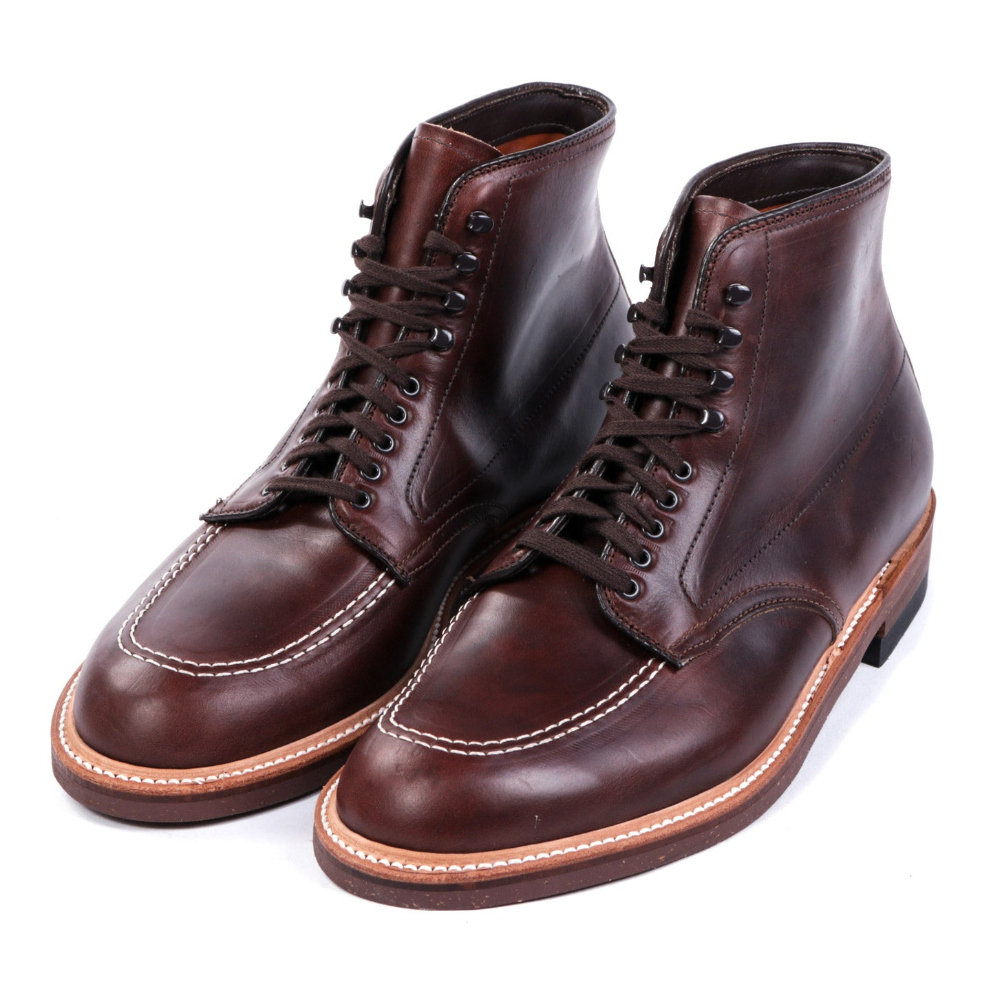 ALDEN 403 WORK BOOT BROWN ANILINE PULL-UP