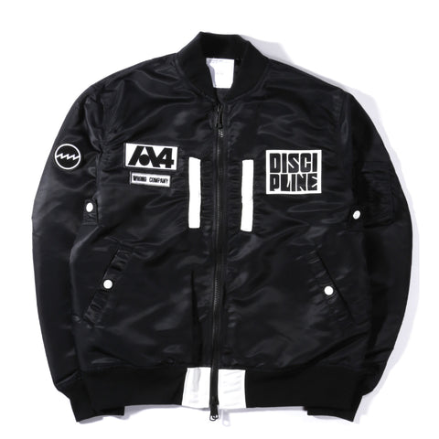 A.FOUR MA-1 JACKET BLACK