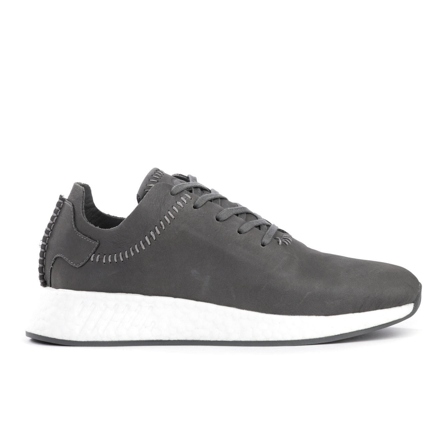 uk availability 0069b b34d7 ADIDAS ORIGINALS BY WING + HORNS NMD R2 LEATHER ASH GREY