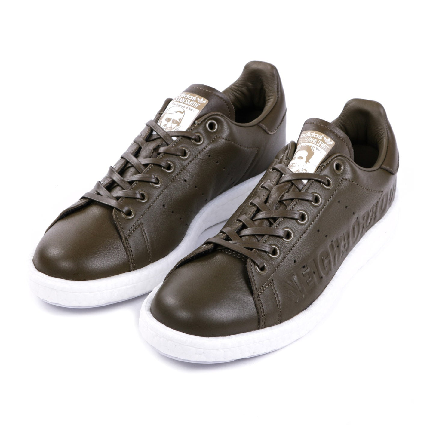 ADIDAS ORIGINALS NEIGHBORHOOD CTD STAN SMITH BOOST OLIVE