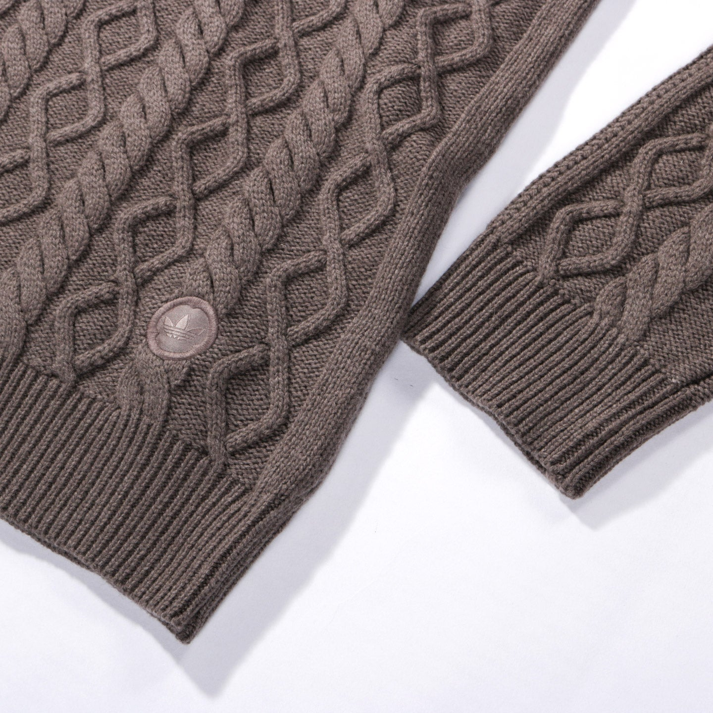 b8397bfc1bf71 ADIDAS ORIGINALS BY WINGS + HORNS FELTED CREW NECK SWEATER SIMPLE BROWN