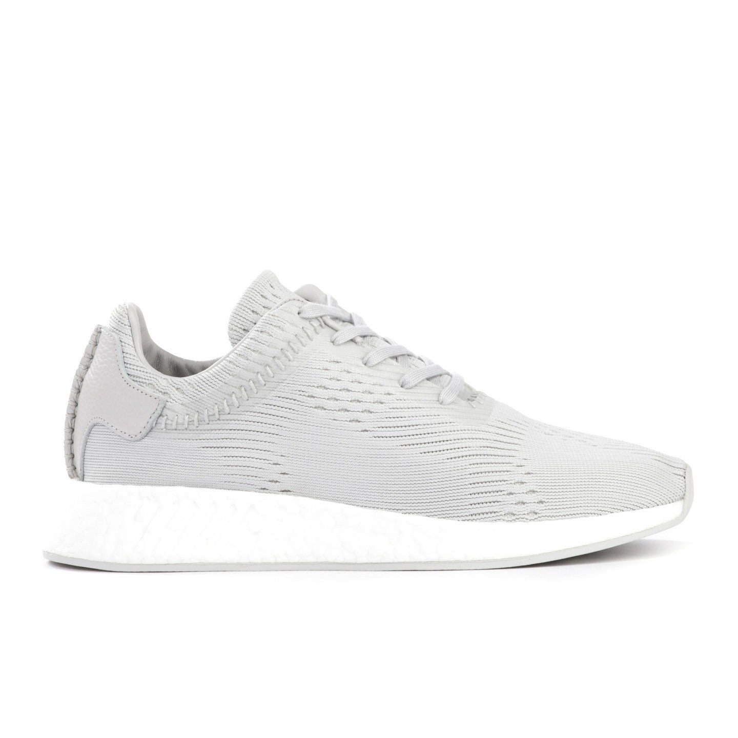 sports shoes 16fac c7255 ADIDAS ORIGINALS BY WING + HORNS NMD R2 PRIME KNIT HINT GREY