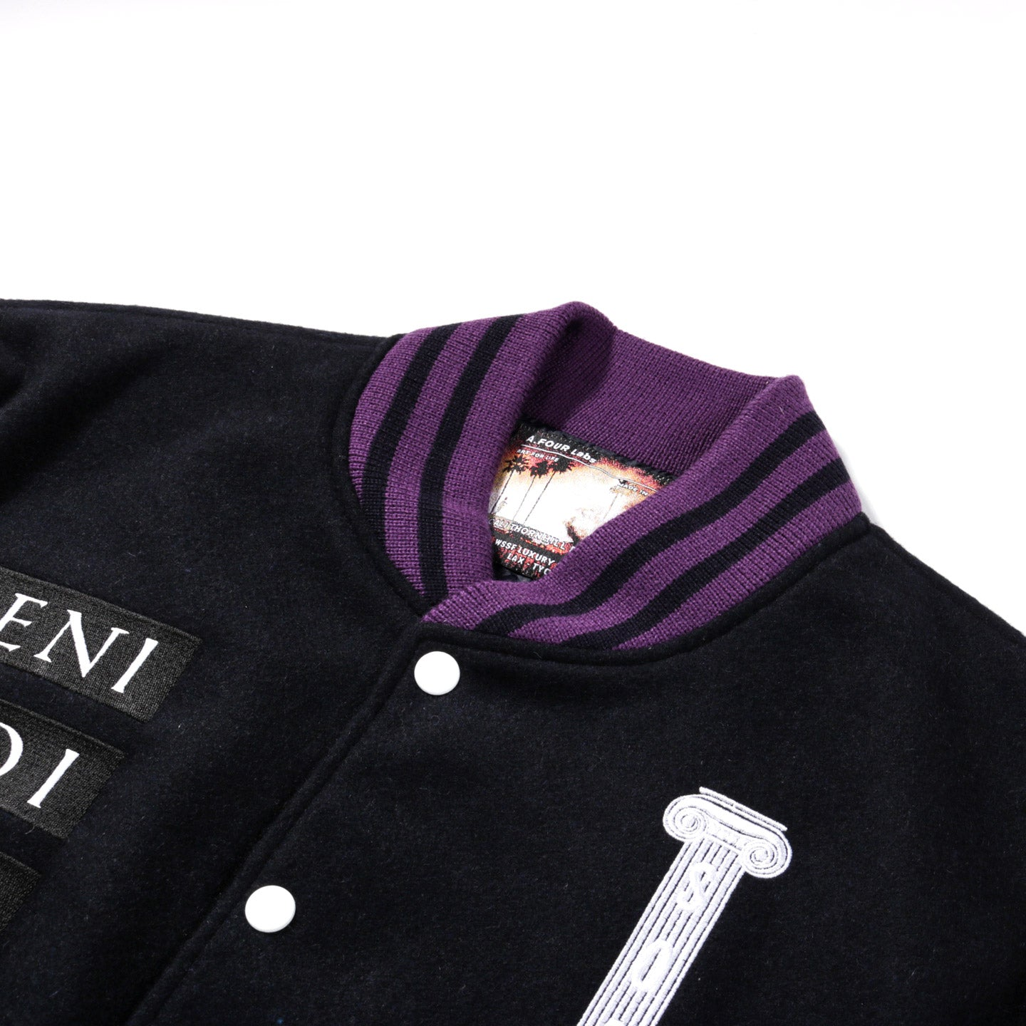 A.FOUR X CALI THORNHILL DEWITT DAVID LETTERMAN JACKET NAVY