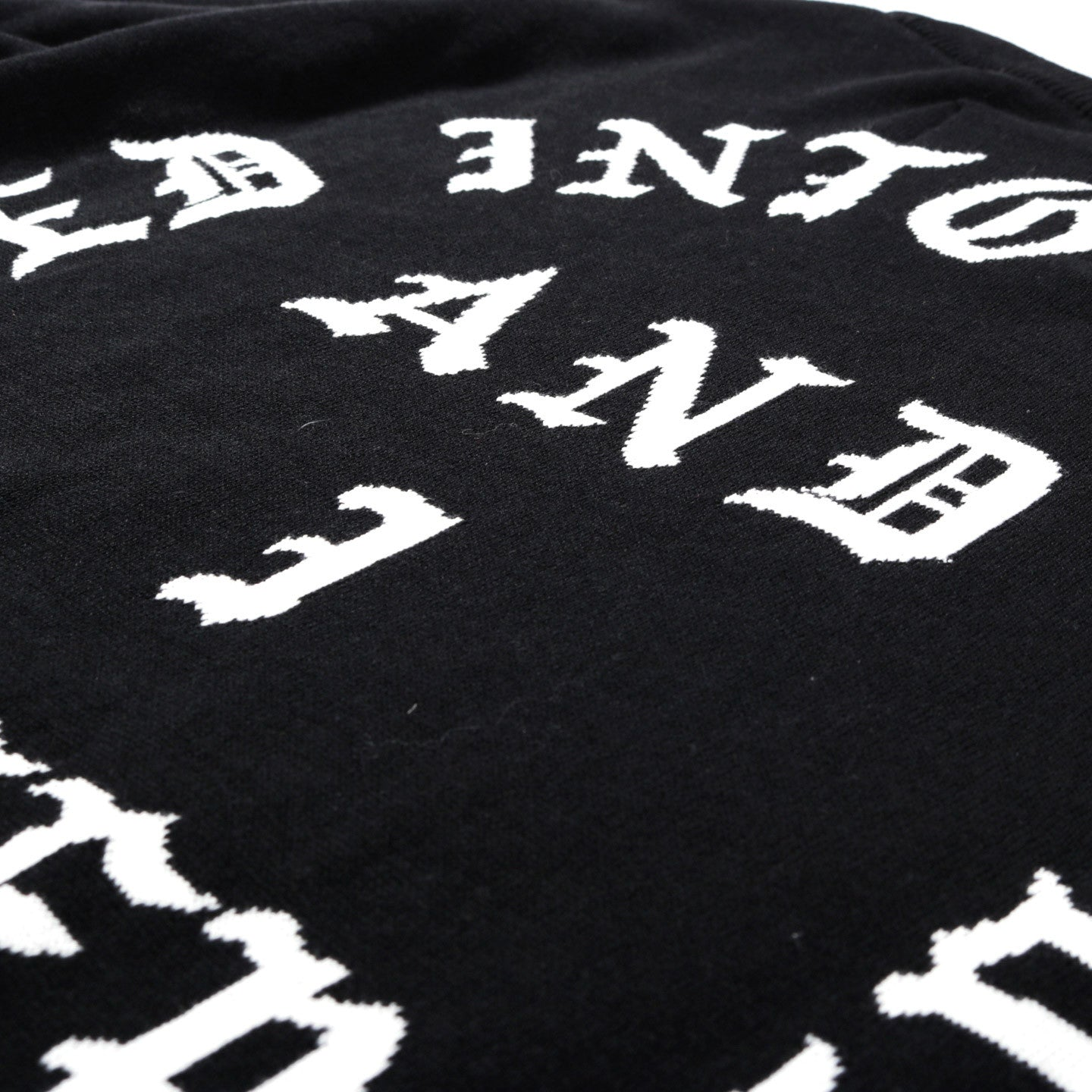 A.FOUR X CALI THORNHILL DEWITT TOMBSTONE SWEATER BLACK