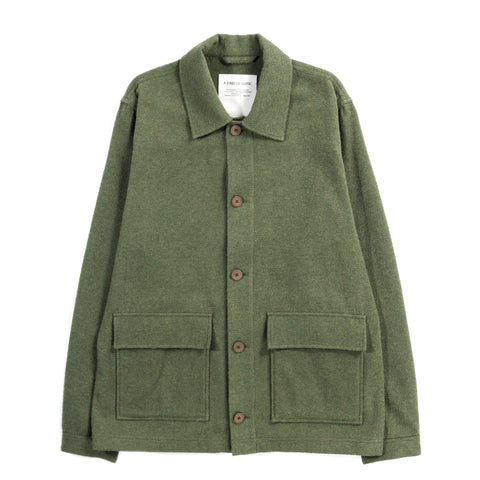 A KIND OF GUISE JAKARTA JACKET FRENCH TERRY GREEN