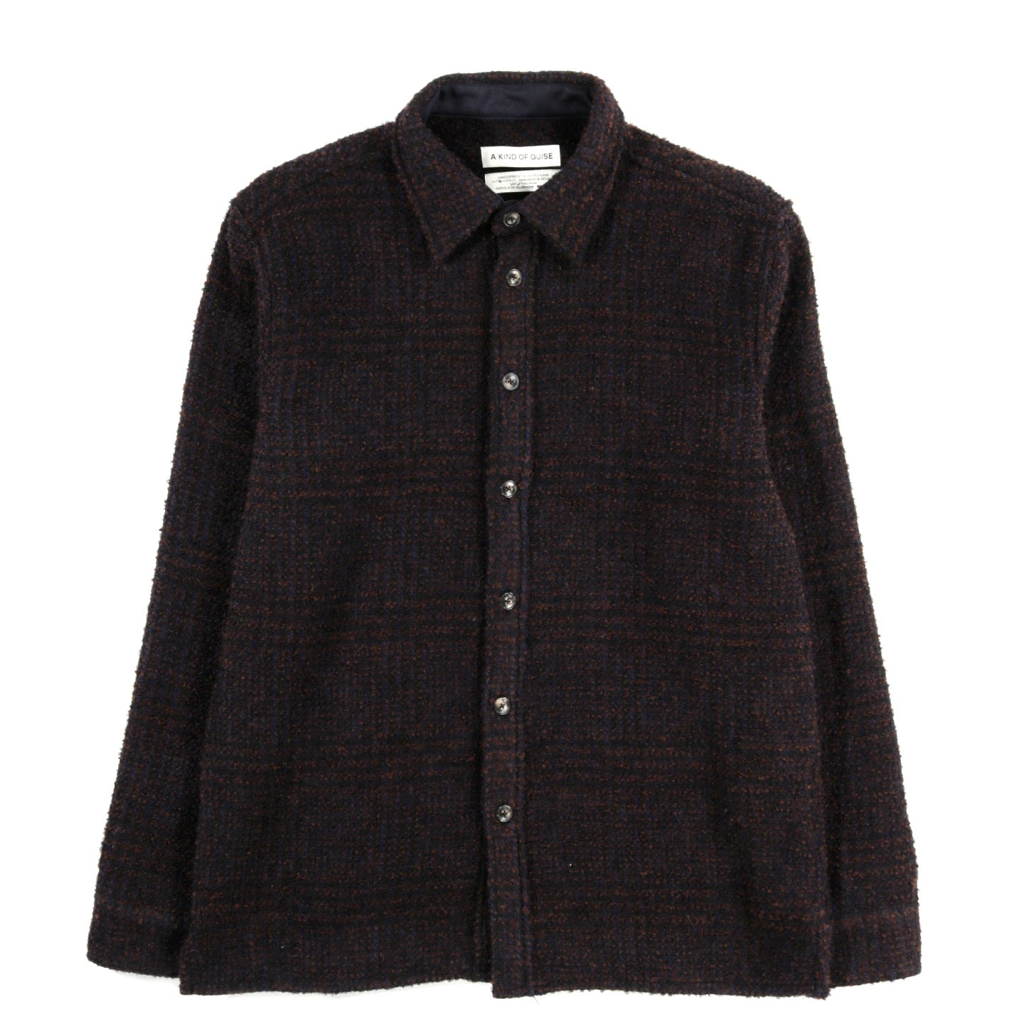 A KIND OF GUISE DULLU OVERSHIRT RUSTY NAVY