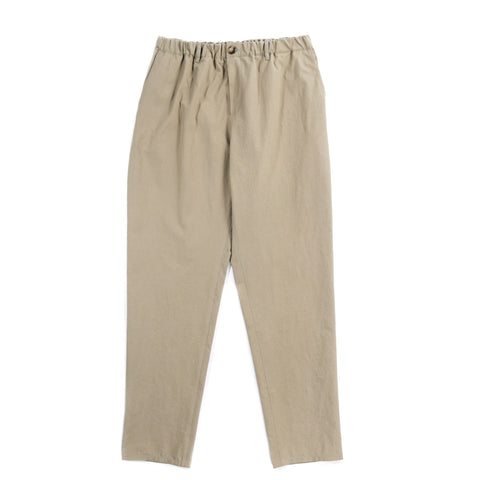 A KIND OF GUISE ELASTICATED WIDE TROUSERS WASHED OLIVE