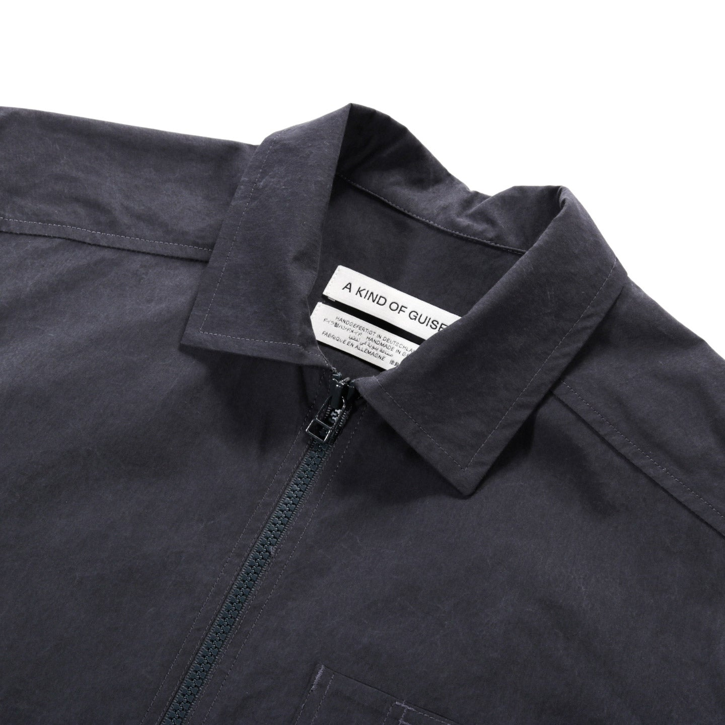 A KIND OF GUISE BELLEVILLE SHIRT WASHED NAVY