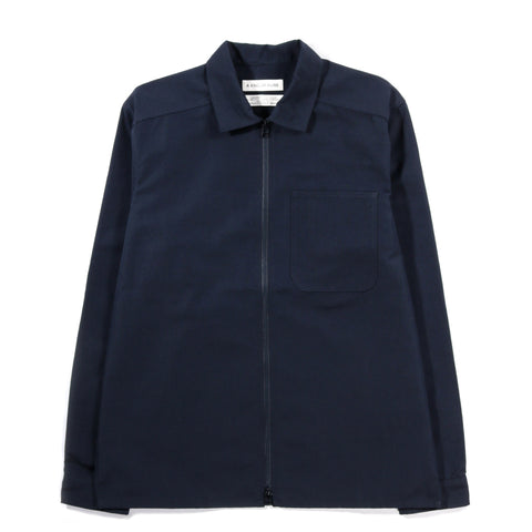 A KIND OF GUISE BELLEVILLE OVERSHIRT NAVY