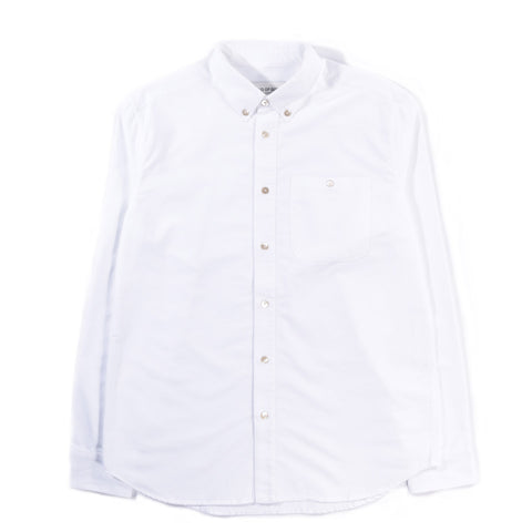 A KIND OF GUISE PERMANENTS BUTTON DOWN OXFORD WHITE