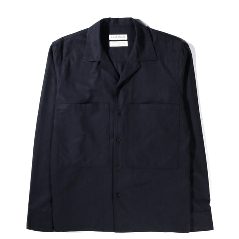 A KIND OF GUISE FANTE SHIRT DEEP NAVY