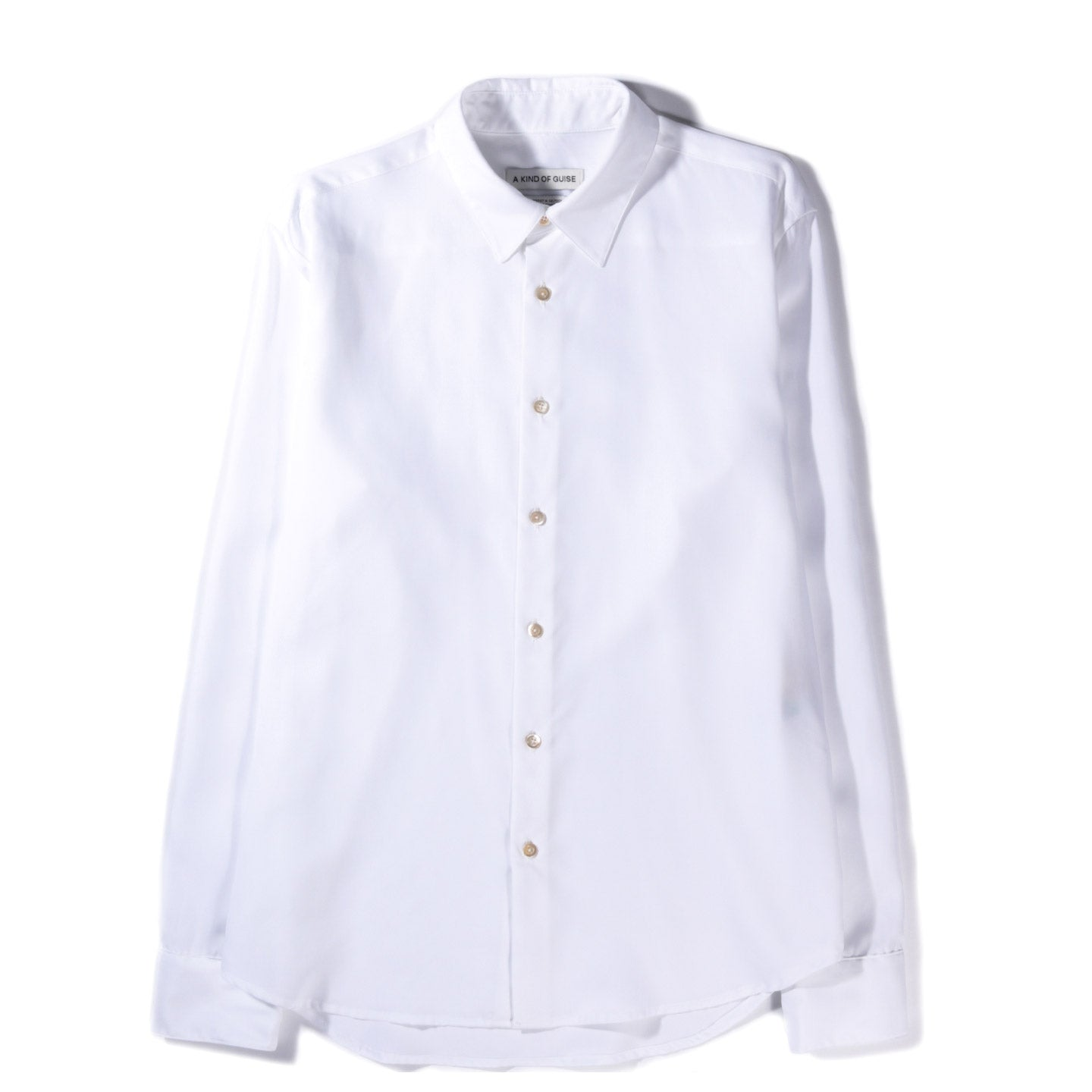 A KIND OF GUISE FLORES SHIRT WHITE