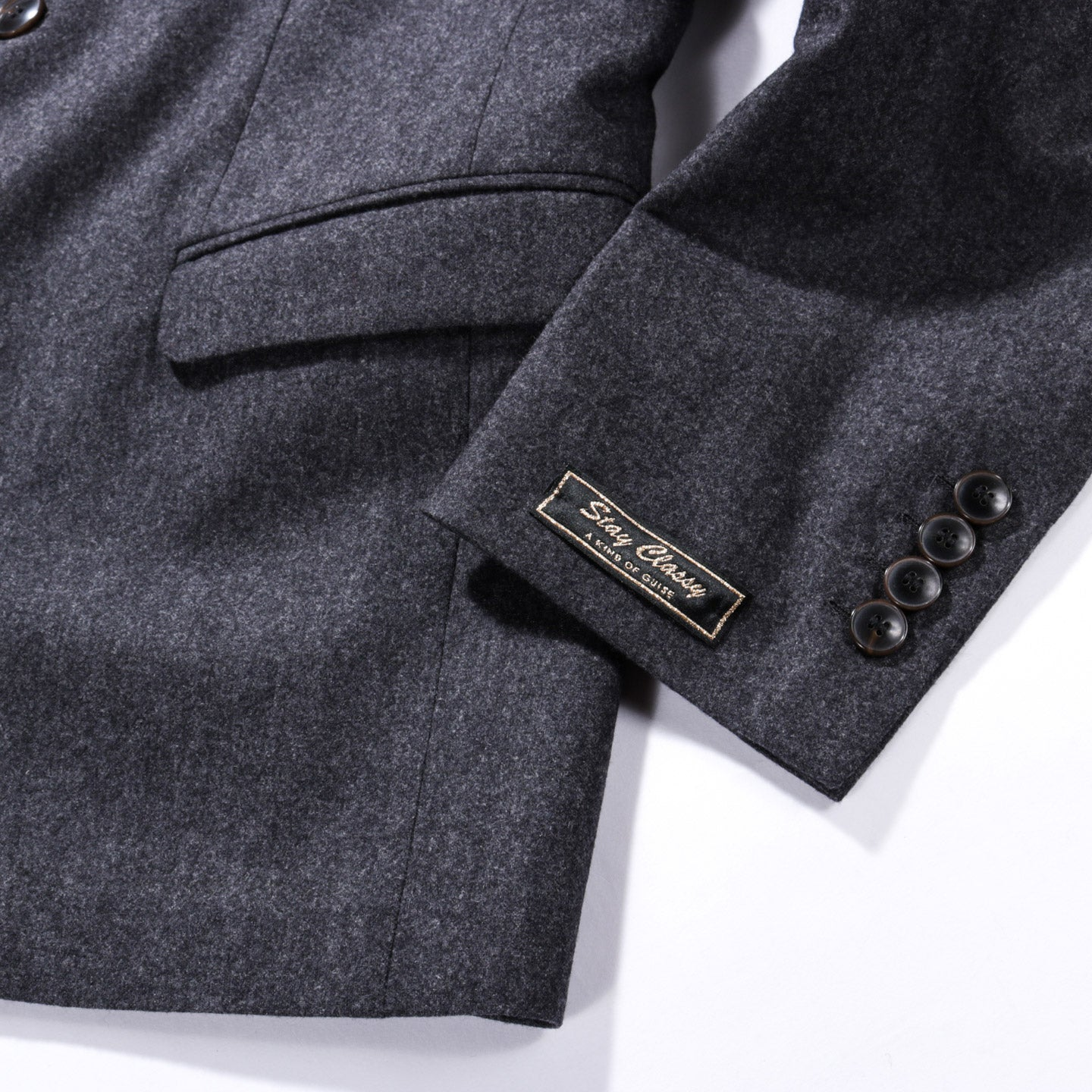 A KIND OF GUISE CLASSY NOTCH BLAZER GREY MELANGE