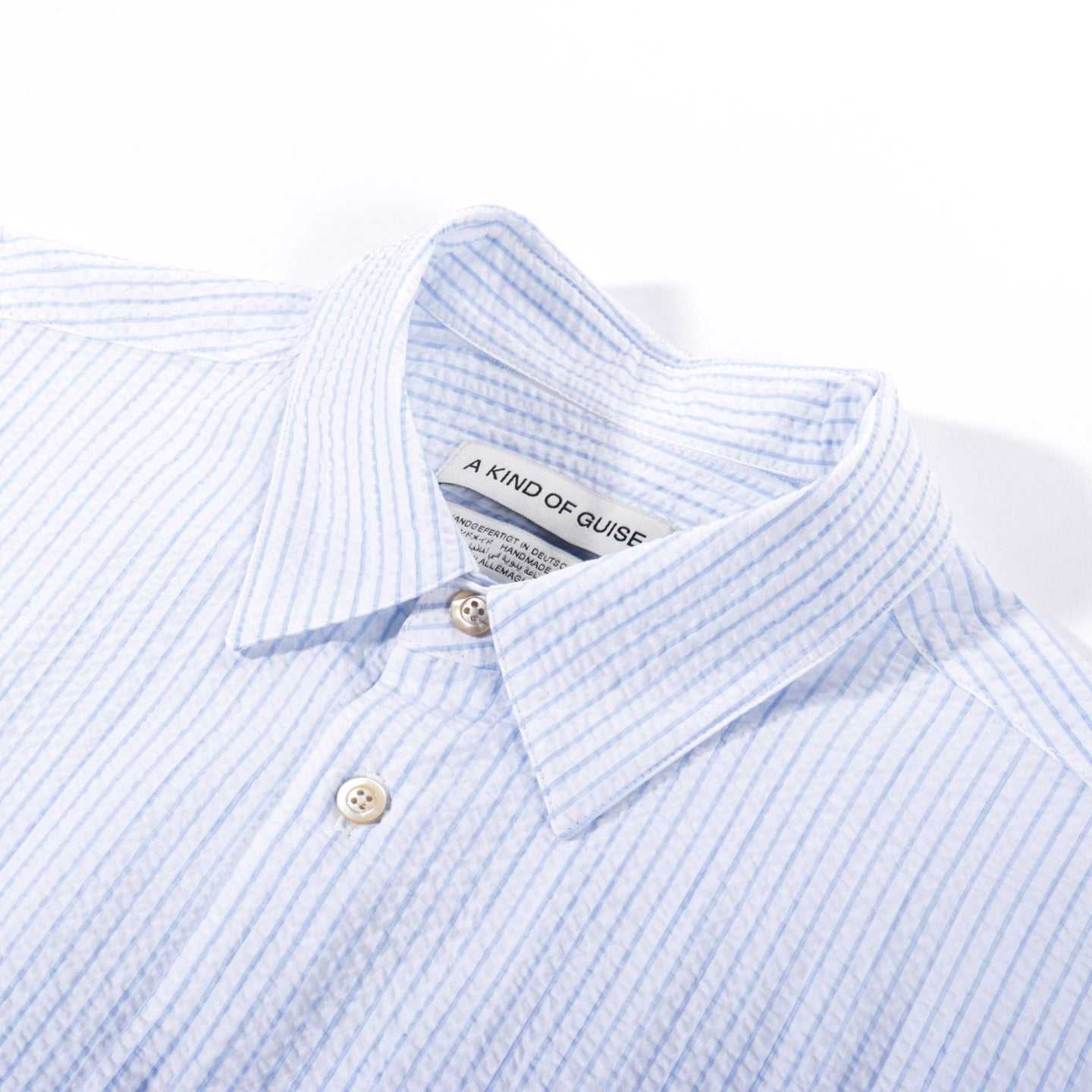 A KIND OF GUISE FLORES SHIRT MORNING STRIPE