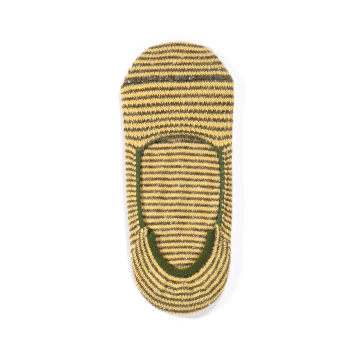 ANONYMOUS ISM NEP STRIPE NO SHOW SOCK OLIVE