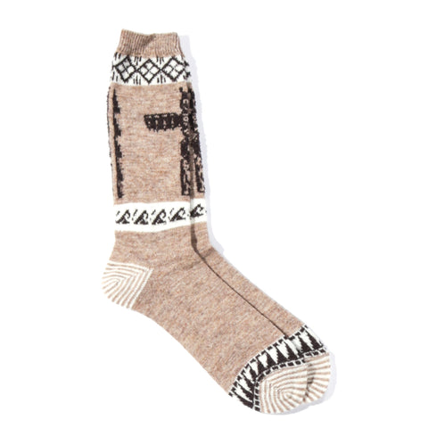 ANONYMOUS ISM TOTEM CREW SOCK BEIGE