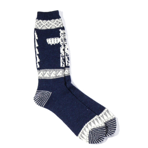 ANONYMOUS ISM TOTEM CREW SOCK NAVY