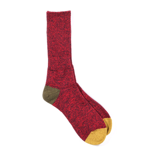 ANONYMOUS ISM MOC 2 POINT CREW SOCK DARK RED