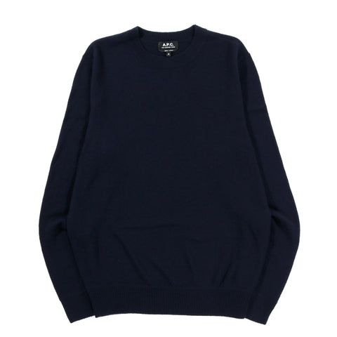 A.P.C. HAN SWEATER DARK NAVY BLUE