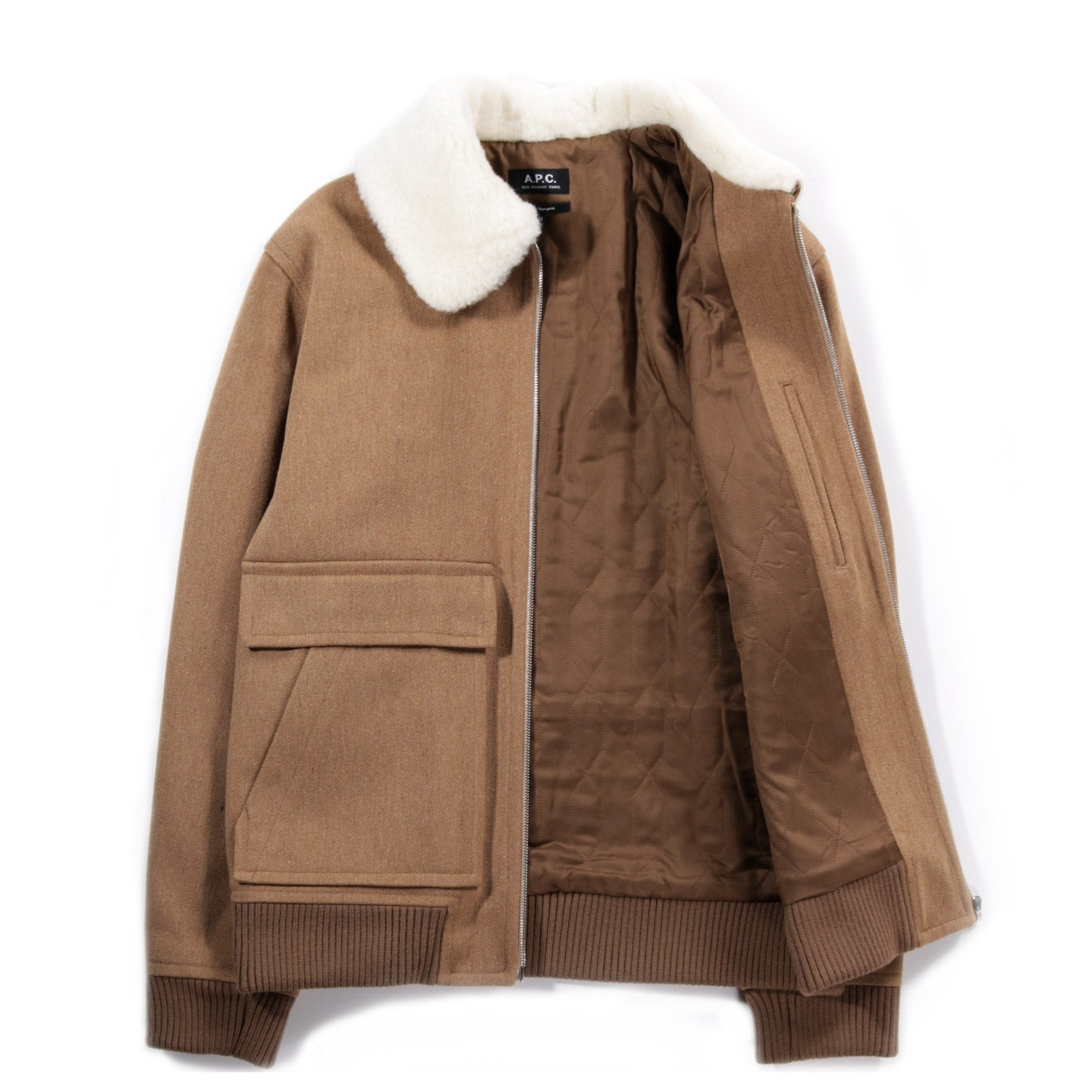 A.P.C. BRONZE JACKET HEATHER BEIGE