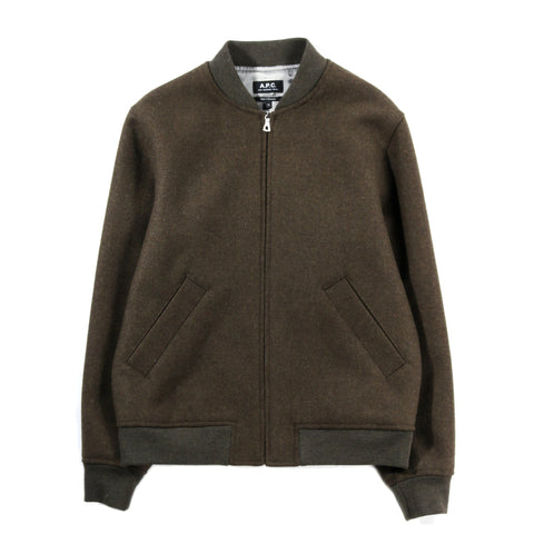 A.P.C. KARL JACKET HEATHER KHAKI