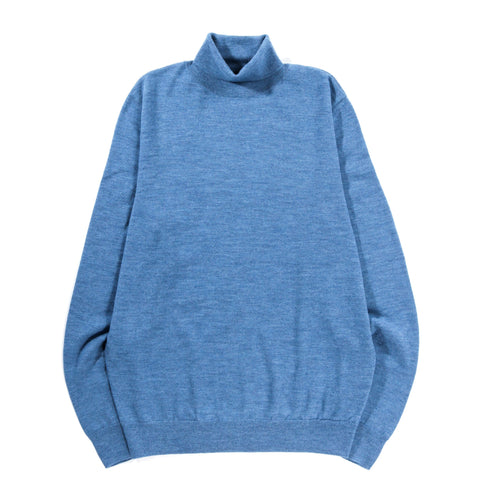 A.P.C. DUNDEE SWEATER HEATHER STEEL BLUE