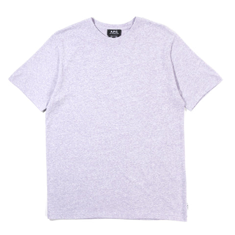 A.P.C. JIMMY T-SHIRT HEATHER VIOLET
