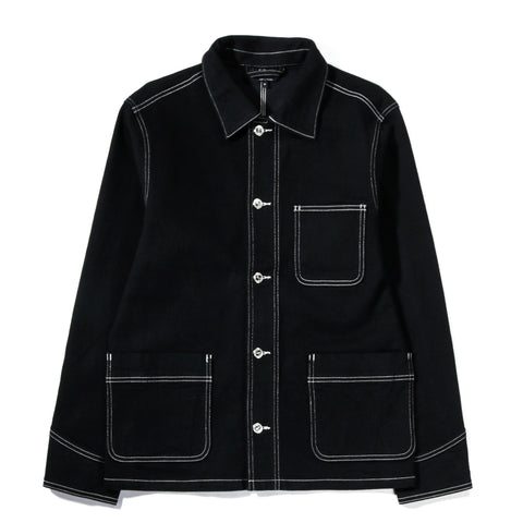 A.P.C. AARON JACKET OFF-BLACK