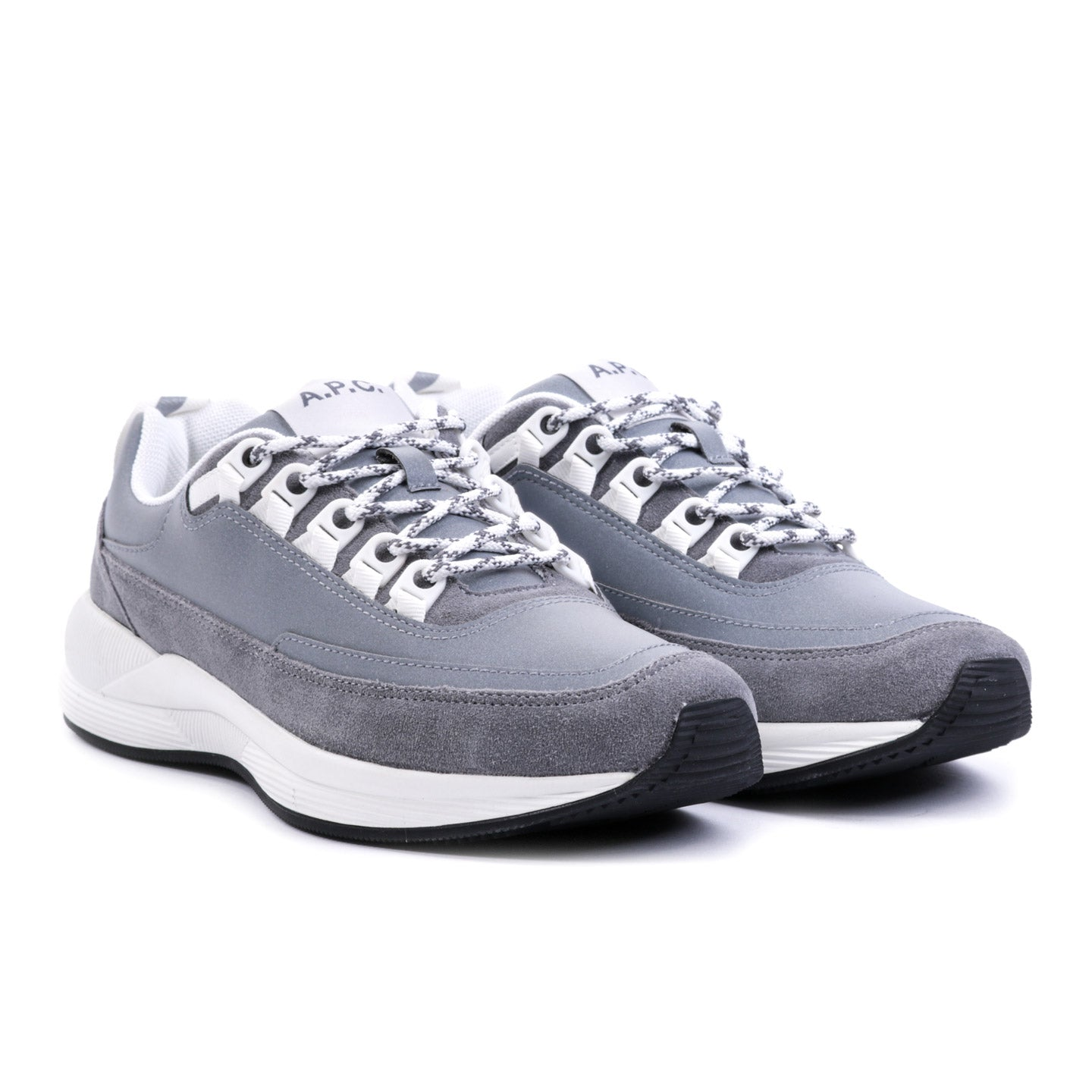 A.P.C. TECHNO SHOES SILVER