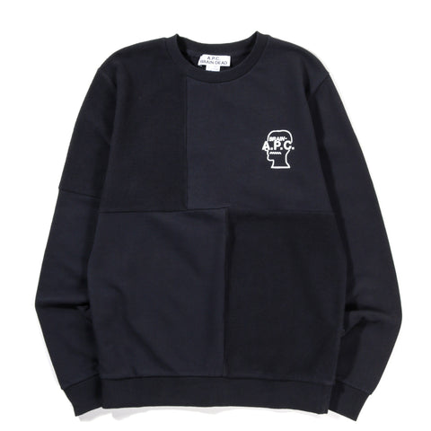 A.P.C. BRAIN DEAD PONY SWEATSHIRT NAVY