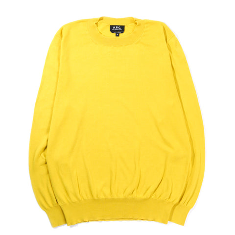 A.P.C. LARRY SWEATER YELLOW