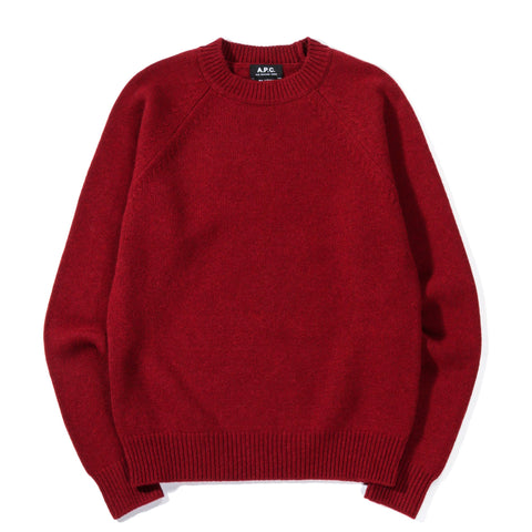 A.P.C. MARKUS SWEATER DARK RED