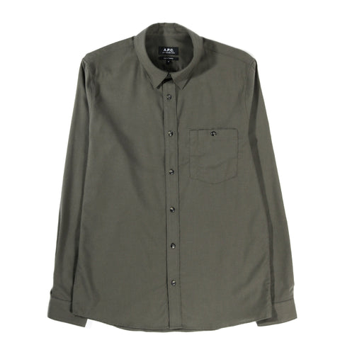 A.P.C. CHICAGO SHIRT KHAKI GREEN