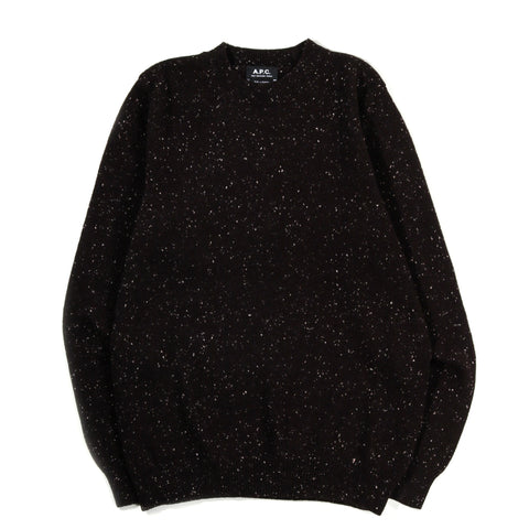 A.P.C. CAVAN SWEATER DARK CHESTNUT BROWN