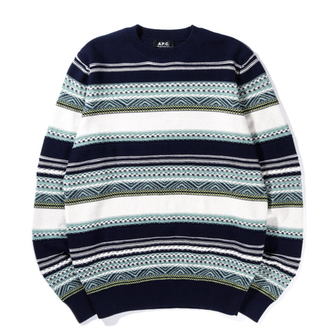 A.P.C. MAXENCE SWEATER DARK NAVY