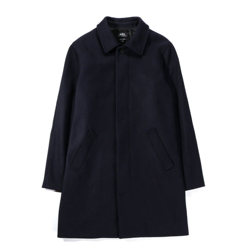A.P.C. AUSTER COAT HEATHERED NAVY BLUE