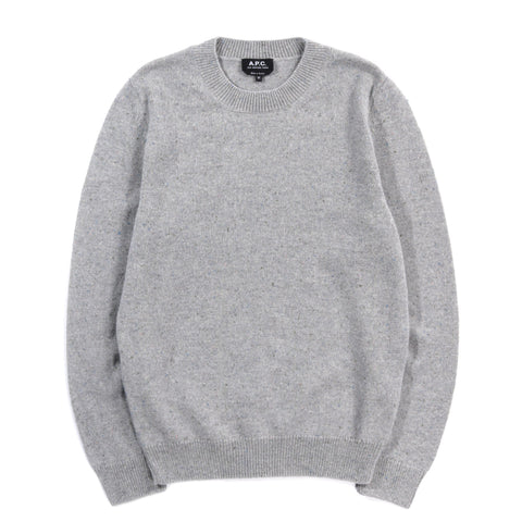 A.P.C. CAVAN SWEATER PALE HEATHER GREY