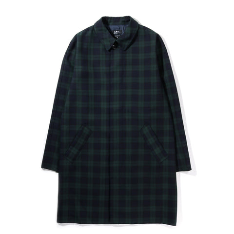 A.P.C. NEW ENGLAND MAC COAT EVERGREEN