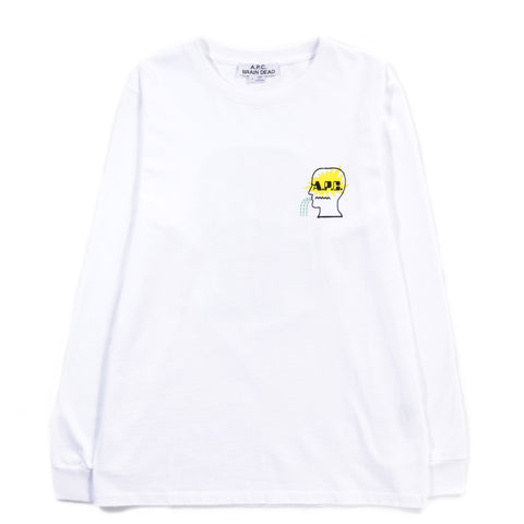 A.P.C. BRAIN DEAD MOLLY LS T-SHIRT WHITE