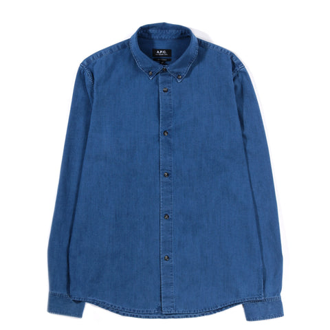 A.P.C. BUTTON DOWN SHIRT INDIGO
