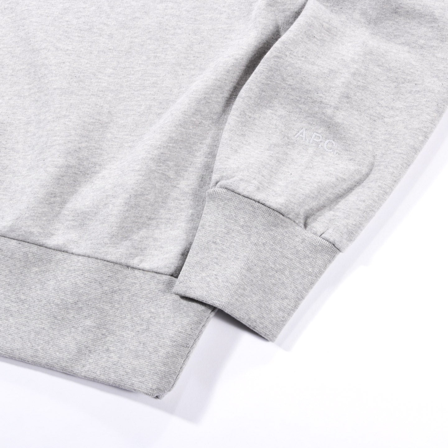 A.P.C. JJJJOUND JUSTIN SWEATSHIRT HEATHER GREY