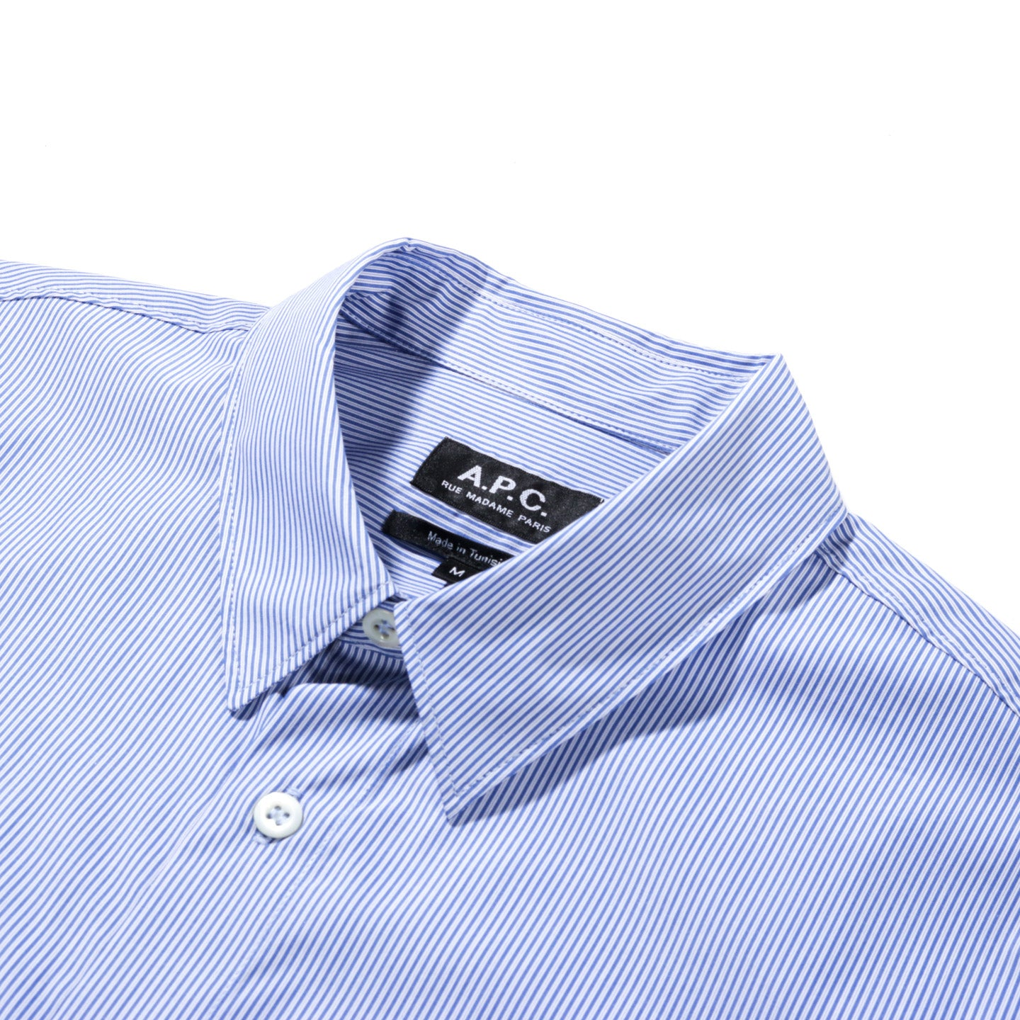 A.P.C. HECTOR SHIRT BLUE STRIPE