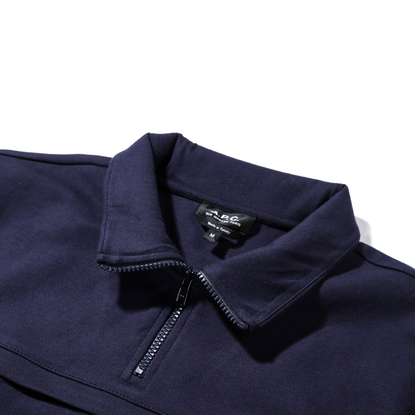 A.P.C. BELGRADE SWEATSHIRT DARK NAVY