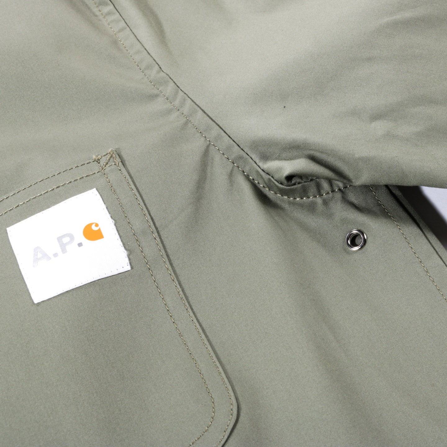 A.P.C. CARHARTT WIP MICHIGAN JACKET KHAKI