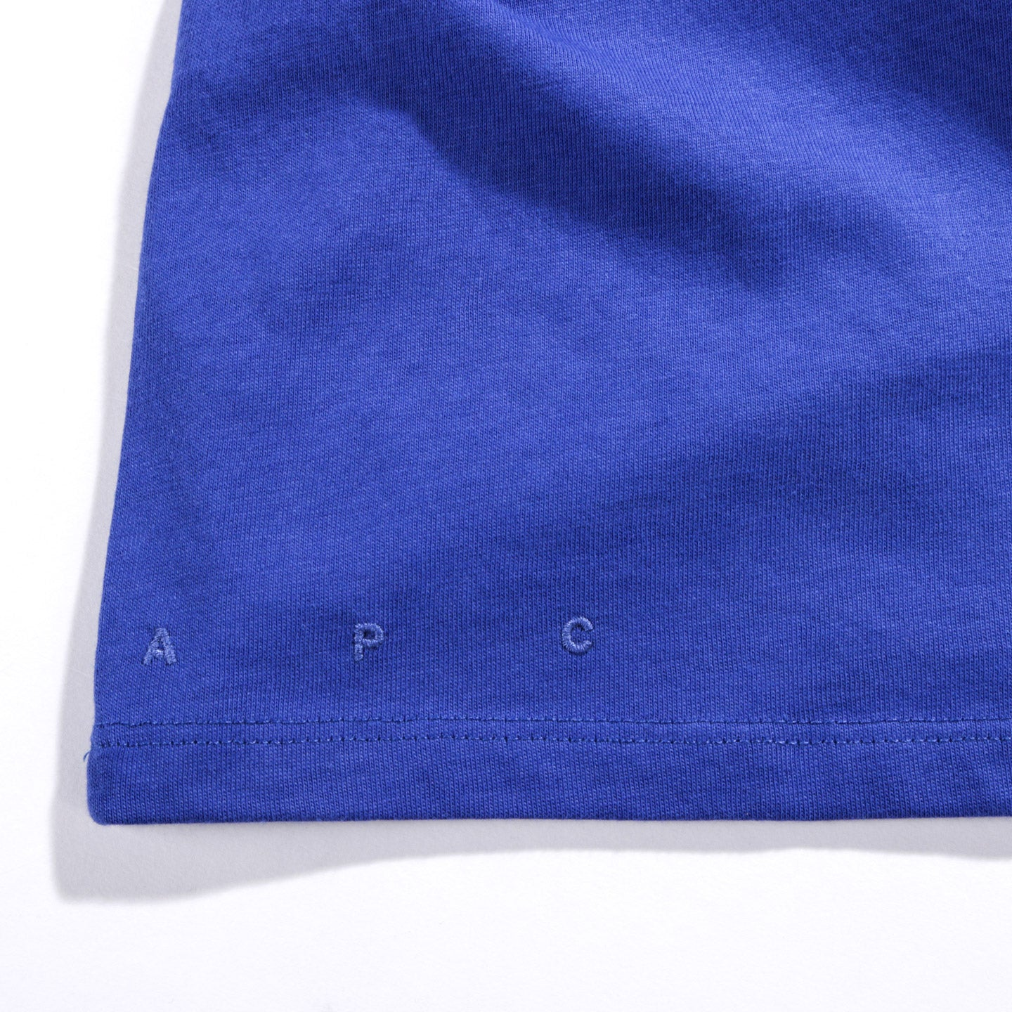A.P.C. ROAD T-SHIRT BLUE FONCE