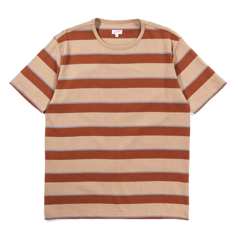 ARPENTEUR MATCH T-SHIRT  SAND / TERRACOTTA / BLUE
